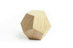 Wood geometric block Royalty Free Stock Images