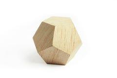 Wood geometric block Royalty Free Stock Images