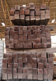 Wood girder  from end close up Stock Image
