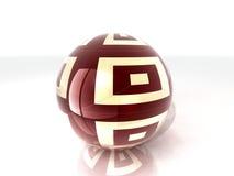 Wood glass ball Stock Photo
