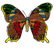 Wood and Glass Butterfly Art Stock Photography