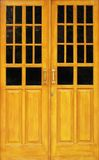 Wood & glass door Royalty Free Stock Photography