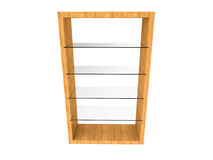 Wood Glass Shelf. Isolated on a white background stock illustration