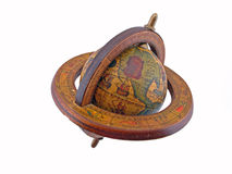 Wood Globe. Isolated wooden globe against white Royalty Free Stock Photo