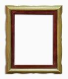 Wood golden frame Stock Photos
