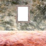 Wood golv och polerad kal betongväggtextur royaltyfri bild