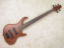 Wood grain bass guitar 1 Stock Photos