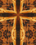 Wood grain cross 9 Stock Images