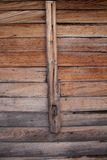 Wood grain. The door of classic shop in bangkok Royalty Free Stock Photo