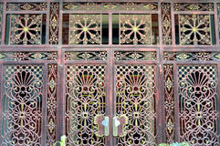 The wood grain of iron gate Royalty Free Stock Photo