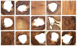 Wood grain sets Stock Photos