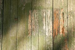 Wood Grain Texture Distressed old paint. Old Paint on a wood grain surface for abstract texture Stock Photos
