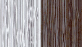 Wood grain textured background. Seamless pattern. Vector illustration in two color palettes Royalty Free Stock Image