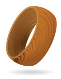 Wood grain textured Ring Royalty Free Stock Photo