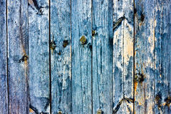 Wood Grained blue grunge texture Stock Photos