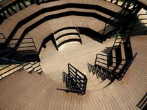Wood grandstand architecture Stock Photography