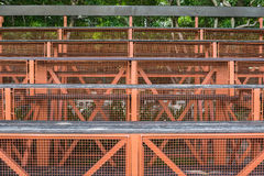 Wood grandstand. In the university of Bangkok royalty free stock image