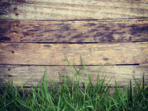 Wood grass background old vintage retro Stock Images
