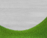 Wood and grass textured backgrounds Stock Photos