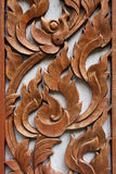Wood gravyr Thailand arkivfoton