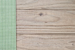Wood and green plaid Royalty Free Stock Photography