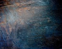 Wood grunge rough background. Roughly processed wooden boards texture. Blue, green, brown iridescent gradient. Light and shadows Royalty Free Stock Photos