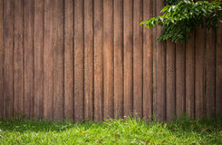 Wood grunge vertical with tree grass on frame background. Royalty Free Stock Image