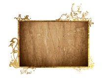 Wood grungy background frame Stock Images