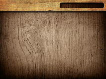 Wood grungy background frame Royalty Free Stock Image