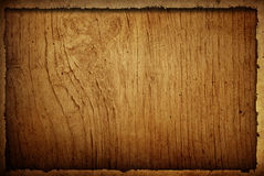 Wood grungy background frame Stock Photography