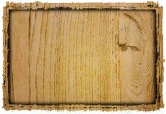 Wood grungy background frame Royalty Free Stock Image