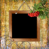 Wood Grungy Background With Frame Stock Image
