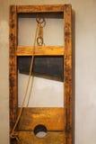 Wood guillotine in Prague. Wood guillotine in shop in Prague Stock Photo