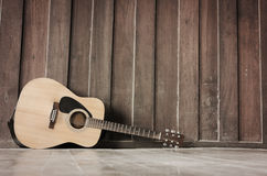 The Wood guitar Stock Image