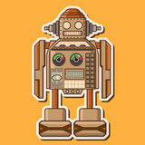 Wood gullig robotvektordesign Royaltyfri Fotografi