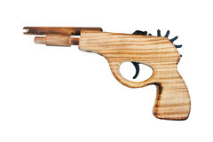 Wood gun isolated, toy Stock Image