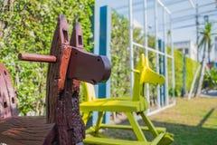 Wood häst för barn Royaltyfri Foto