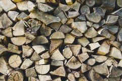Wood hög Arkivfoto