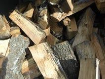 Wood hög Royaltyfri Foto