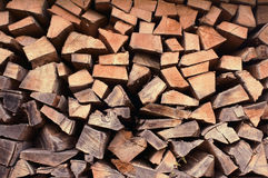 Wood hög Royaltyfri Bild
