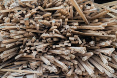 Wood hög av trädfilialen Royaltyfria Bilder
