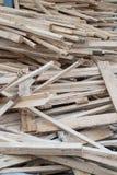 Wood hög av trädfilialen Royaltyfri Bild
