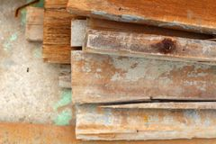 Wood hög för konstruktionen Fotografering för Bildbyråer
