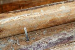 Wood hög för konstruktionen Arkivbilder