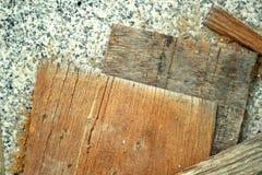 Wood hög för konstruktionen Arkivfoton