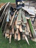 Wood hög för rest Arkivbilder