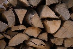 Wood hög för textur Royaltyfria Bilder