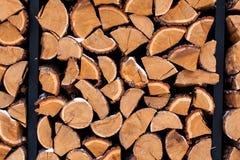 Wood hög utanför Royaltyfri Bild