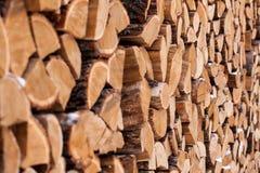 Wood hög utanför Royaltyfri Fotografi