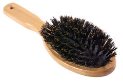 Wood hairbrush Royalty Free Stock Images